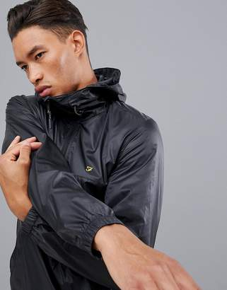 Farah Sport Linwood overhead windbreaker in black