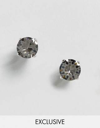 Simon Carter Swarovski Crystal Earrings With Gunmetal Plate Setting