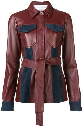 Victoria Beckham Victoria leather belted jacket