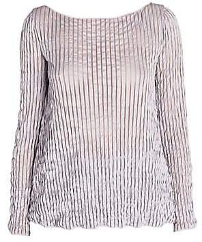 Giorgio Armani Women's Crinkled Long Sleeve Top