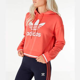 adidas Women's Active Icons Crop Hoodie