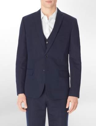 Calvin Klein body slim fit herringbone twill suit jacket