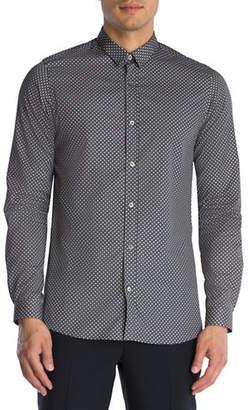 The Kooples Geo-Print Cotton Sport Shirt