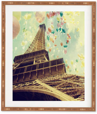 Deny Designs Chelsea Victoria Paris Is Flying Bamboo Framed Wall Art