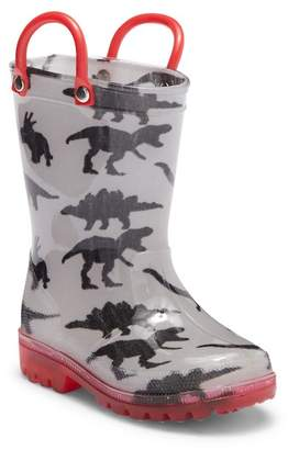 34c74f07901a ... LILLY OF NEW YORK Dino Print Light-Up Waterproof Rain Boot (Toddler    Little