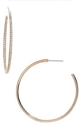 Nadri Medium Inside Out Hoop Earrings
