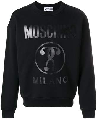 Moschino vinyl print sweatshirt