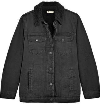 Madewell Oversized Denim Jacket - Black
