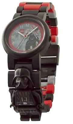 Lego Star Wars 8021018 Darth Vader Kids Minifigure Link Buildable Watch | Black/red| Plastic | 25mm case Diameter| Analogue Quartz | boy Girl | Official