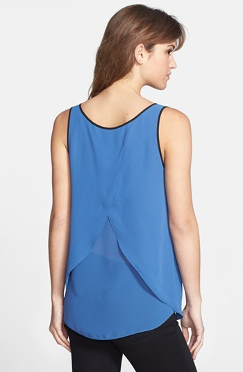 Kenneth Cole New York 'Estelle' Wrap Back Scoop Neck Blouse