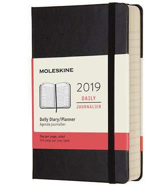 Moleskine NEW 2019 Daily Diary Hard Cover Black Pocket