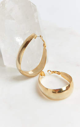 MUMU With You Wide Hoop Earrings ~ Gold