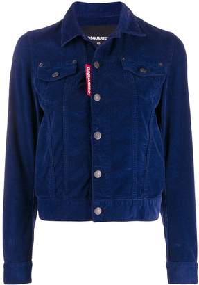 DSQUARED2 fitted corduroy jacket