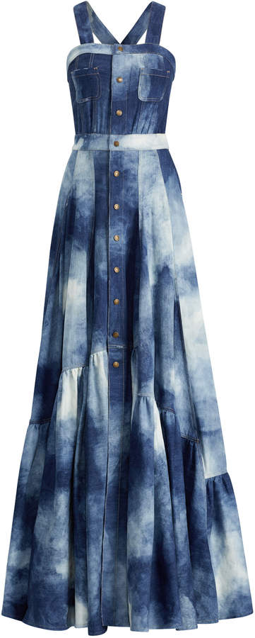 Ralph Lauren Denim Brooke Evening Dress