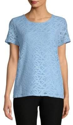 Calvin Klein Lace Short-Sleeve Tee