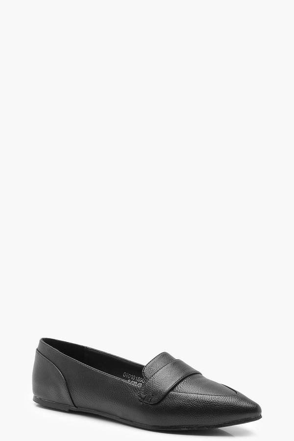 boohoo Pointed Loafer Flats