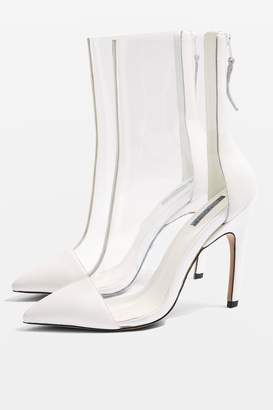 Topshop Hockey Clear Pointed Boots
