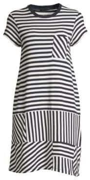 ATM Anthony Thomas Melillo Pique Stripe T-Shirt Dress