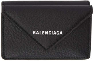 Balenciaga Black Paper Thin Mini Wallet