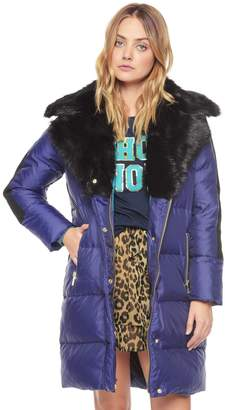 Juicy Couture Novelty Puffer Faux Fur Coat