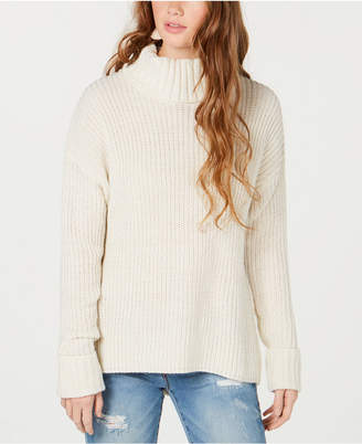 American Rag Juniors' Lace-Up Turtleneck Sweater