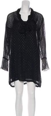 Theory Scarf Silk Dress