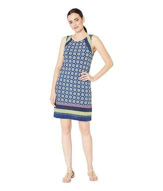 Tribal Printed Jersey A-Line Dress w/ Pockets