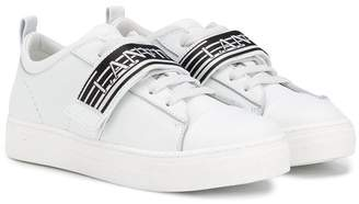 Lanvin Enfant logo band sneakers