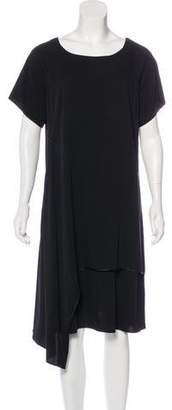 Shamask Asymmetrical Short Sleeve Dress