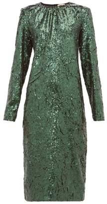 No.21 No. 21 - Sequinned Midi Dress - Womens - Green
