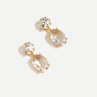 J.Crew Oval-shaped stone drop earrings
