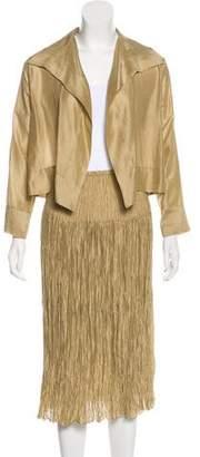 Peter Cohen Silk & Wool Skirt Suit