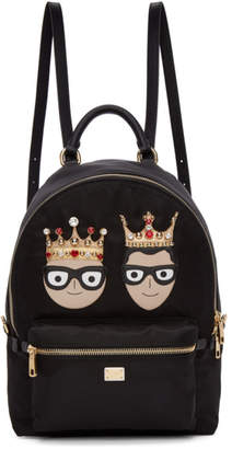 Dolce & Gabbana Black Nylon King DGFamily Backpack