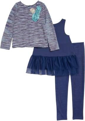 Pippa & Julie Knit Top, Tunic & Leggings Set