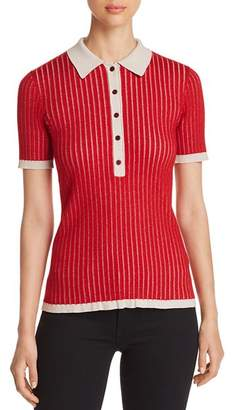 Burberry Yellowstone Ribbed Short-Sleeve Sweater