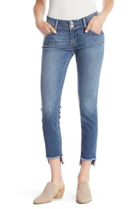Hudson Cat Mid-Rise Skinny Frayed Jeans