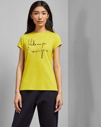 Ted Baker LOLYATA Wake me for Champagne T-shirt