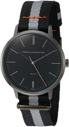 French Connection Men's Quartz Metal and Nylon Automatic Watch, Color: (Model: FC1264BB)