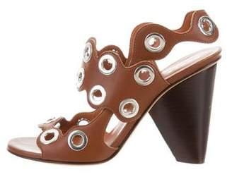 Derek Lam Leather Grommet Sandals