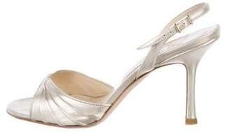 Jimmy Choo Metallic Leather Strap Sandals