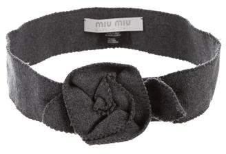 Miu Miu Felt Waist Belt