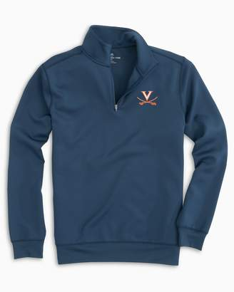 Southern Tide Gameday Performance 1/4 Zip Pullover - University of Virginia