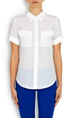 34b99d545286c6 Equipment Short Sleeve Slim Signature Shirt in White