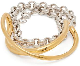 Charlotte Chesnais Initial silver and gold-plated chain bracelet
