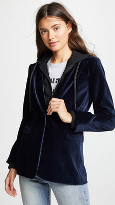 Alice + Olivia AO.LA by Macey Fitted Blazer with Hood
