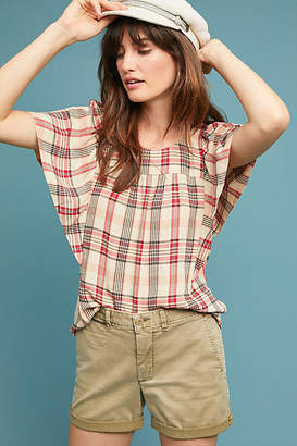 Maeve Priscilla Plaid Blouse