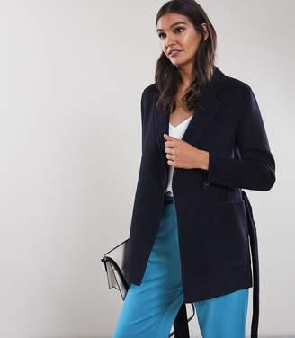 Reiss Austen Wool Blend Self Tie Coat