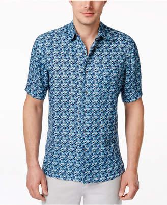Tasso Elba Men's Silk Linen Short-Sleeve Shirt, Created for Macy's