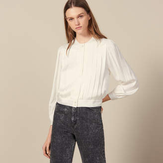 Sandro Blouse With Knife Pleats