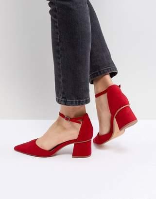 Bershka Block Heel Pointed Shoe